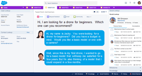 Multi Cloud Story - Customer Centric: In-Salesforce App Service Chat