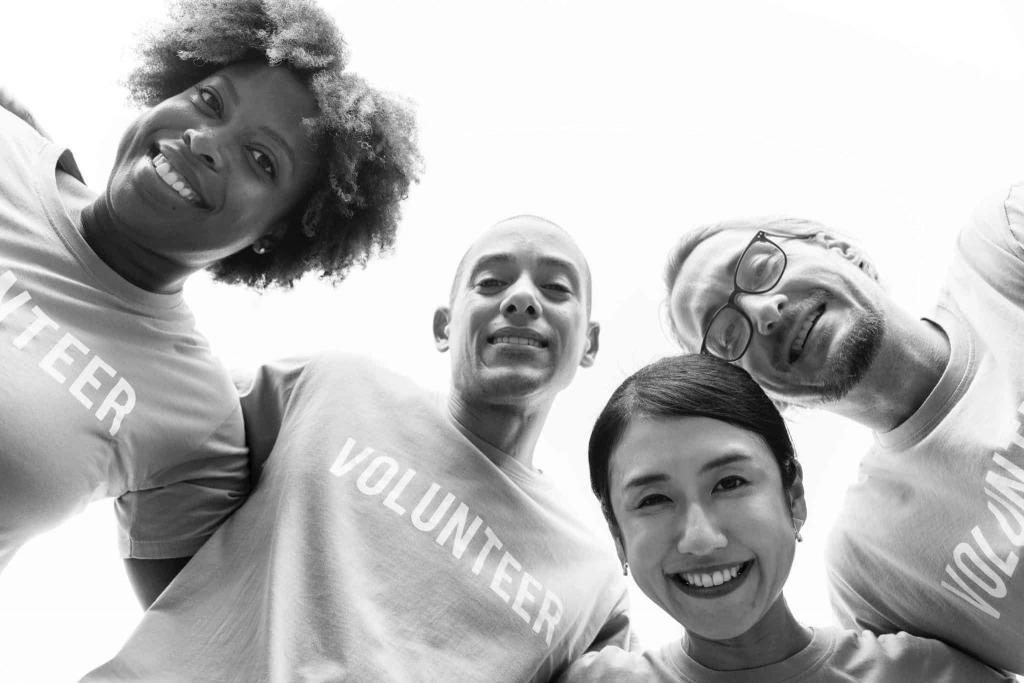 Volunteers for nonprofit organization